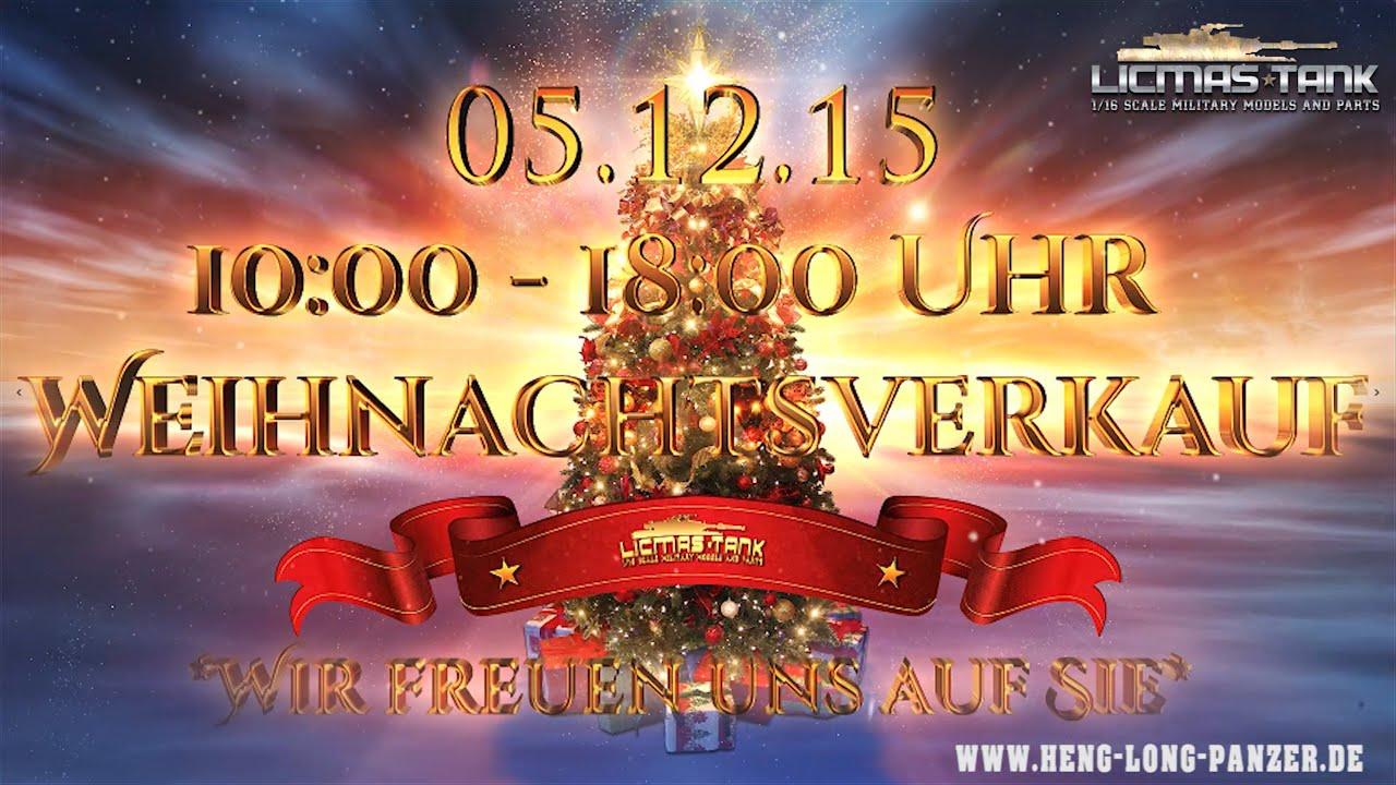 Weihnachtsverkauf Heng Long Panzer 05.12.15 von 10:00 - 18:00 Uhr ...