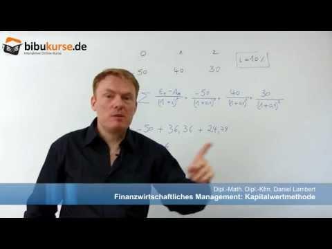Kapitalwertmethode - Formel,