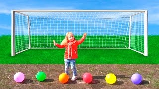 Learn Colors with Balls for Children, Toddlers and Babies Colours with Soccer Balls Learn colors