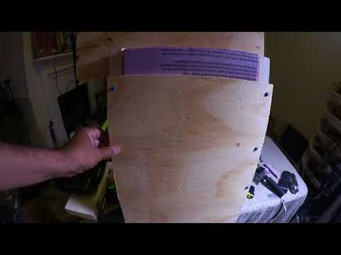 A close look at how I am building my van  partition/bulkhead insulation sandwich.