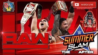 RAW AFTER SUMMERSLAM! WWE RAW LIVE STREAM TODAY 😎 August 20 2018 REACTION