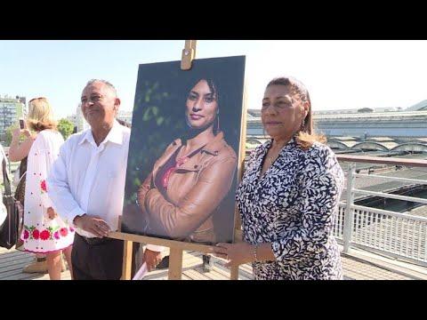 afpbr: Marielle é homenageada em Paris   AFP