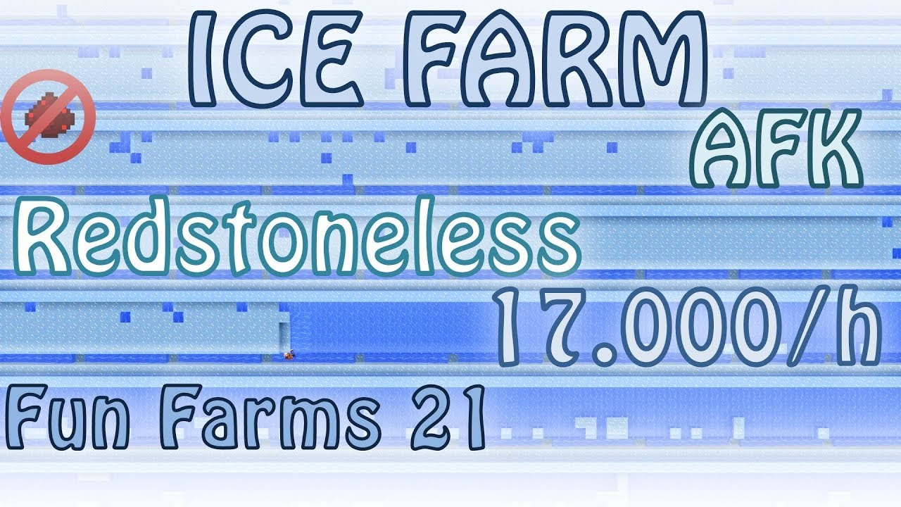 Ice Farm Redstoneless Afkable 16 18k H Fun Farms 21 Minecraft 1 13 Youtube Blue ice is a block added by vanilla minecraft that generates naturally in icebergs. ice farm redstoneless afkable 16 18k h fun farms 21 minecraft 1 13