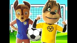 Гонщик и Дружок играют футбол! Футбольный Челлендж!