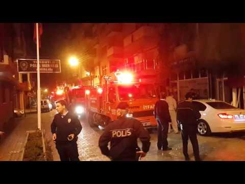 polis karakolu karşısında patlama