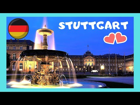 GERMANY's most spectacular city centre (STUTTGART), Schlossplatz or Palace Square