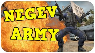 CS:GO - Funny Moments & Fails! NEGEV ARMY & Legendary Flick #2