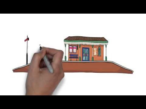 How To Draw Train Station With People