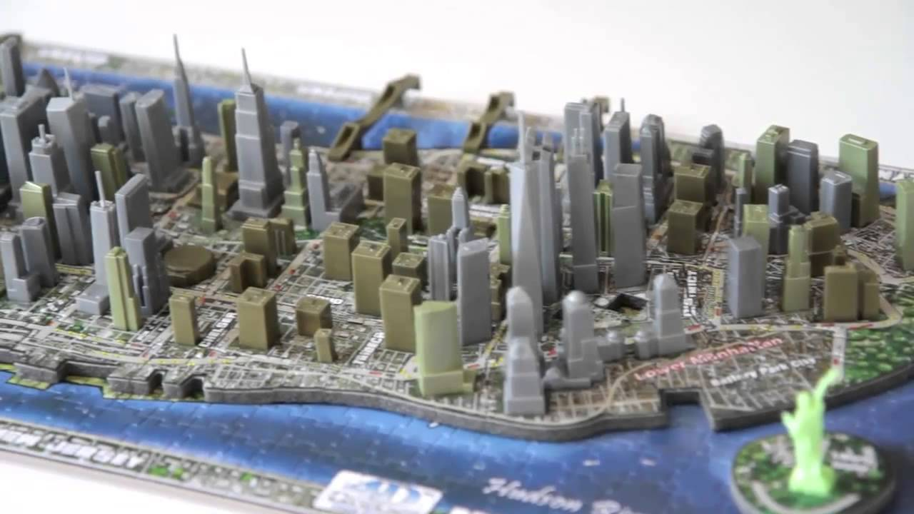 4D-пазлы от компании Citycape - YouTube