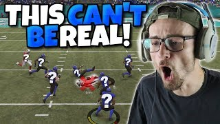 HE WASN'T THE ONE TO CATCH IT?? THE BALL JUST FROZE THERE!?!? Madden 19 Packed Out