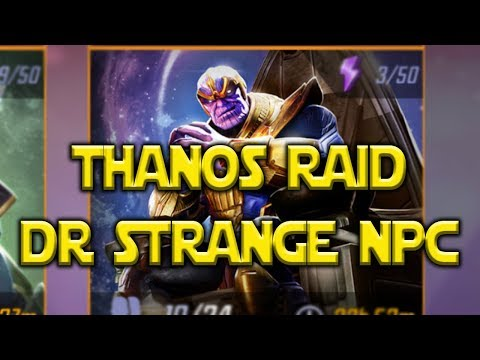 Very Hard Thanos Raid Level 60 DR. STRANGE npc | Marvel Strike Force