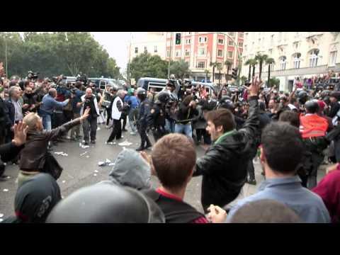 25S - Carga policial, puerta del congreso, Madrid. 25-s 2012