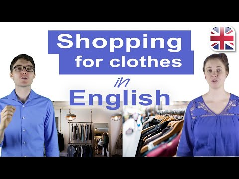 Shopping for Clothes in English - Spoken English Lesson