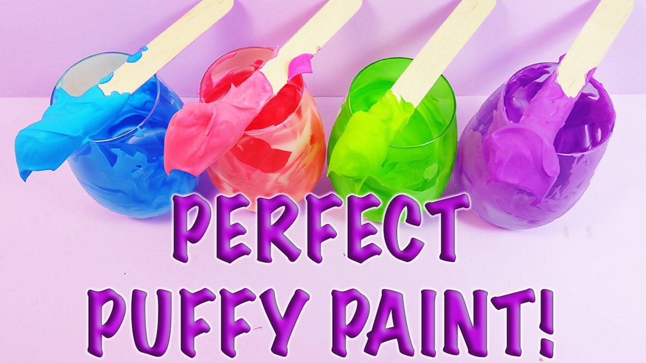 Diy How To Make Awesome Homemade Creative Puffy Paint Great For Kids You