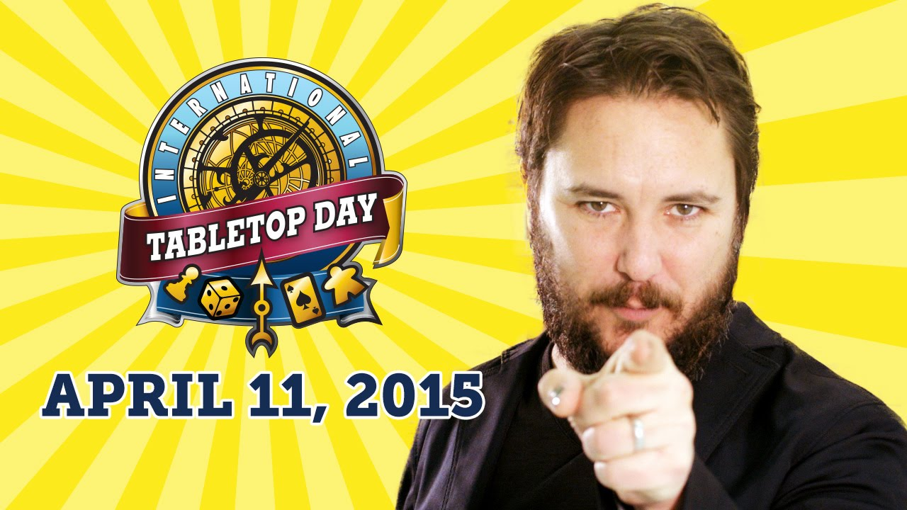 Wil Wheaton Announces International TableTop Day 2015 - YouTube