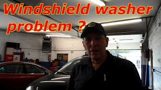 Windshield Washer Pump Diagnosis And Repair