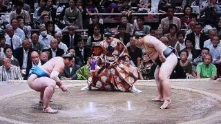 Tochinoshin vs Asashoryu (Day2 Kugatsu-Basho 2009 Sep)