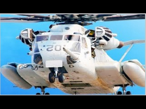 Giant US Helicopter Easily Lift Tons of Howitzer Cannon  US Marines Ch 53 Heavy lift Transport