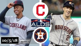 Cleveland Indians vs Houston Astros Highlights || ALDS Game 1 || October 5, 2018