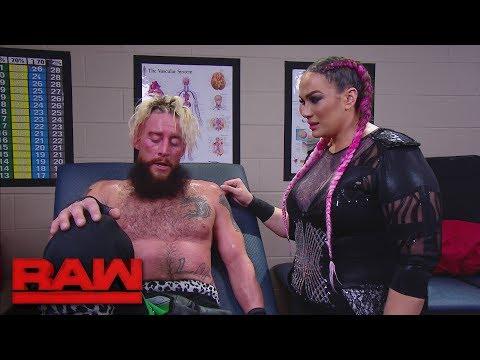Nia Jax comforts Enzo Amore: Raw, Jan. 8, 2018