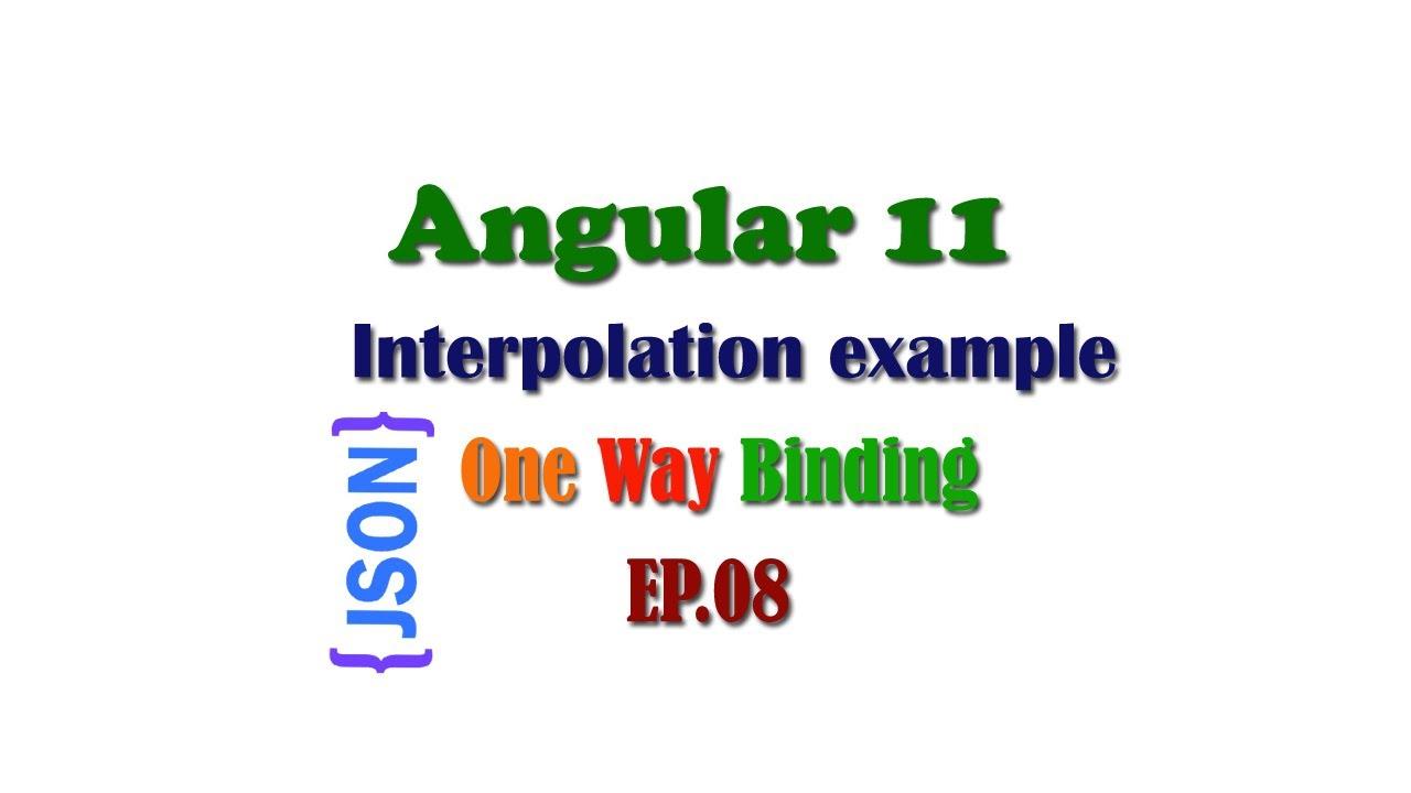 Interpolation in Angular 11, Angular String Interpolation