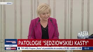 Oni nie przyjadą do Warszawy. Senator Lidia Staroń przemawia w imieniu ofiar.