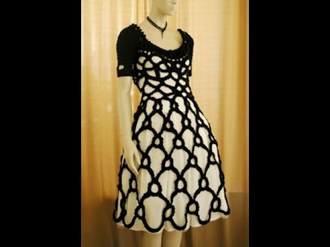 Crochet Dress With Cord Irish Lace Youtube
