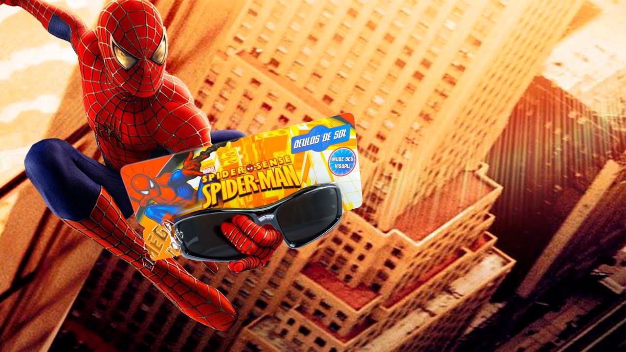 d7ced2eda0d0b Óculos de Sol Infantil Homem Aranha Marvel - Cim - YouTube