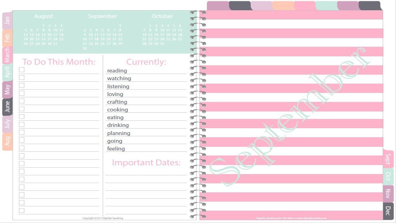 Heather 2018 iplanner weekly vertical digital planner for Make a planner online free