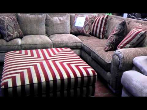 Robert Michaels Jackson Sectional. Gold And Red