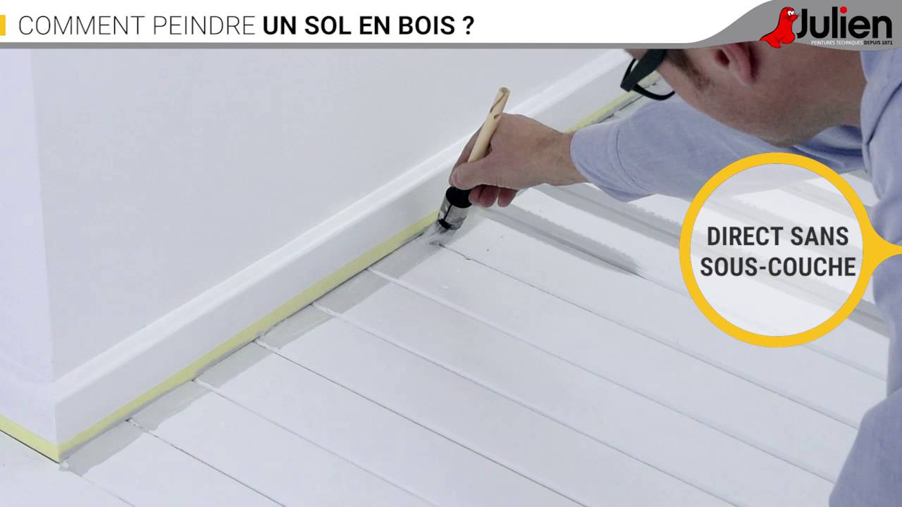 comment peindre un sol en bois peintures julien youtube. Black Bedroom Furniture Sets. Home Design Ideas