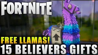 "Fortnite News ""15 Free Believer Gift Llamas"" Free Upgrade Llamas in Fortnite Early Acess"