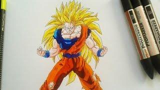 Goku Ssj3 Drawing Dibujar desenhando