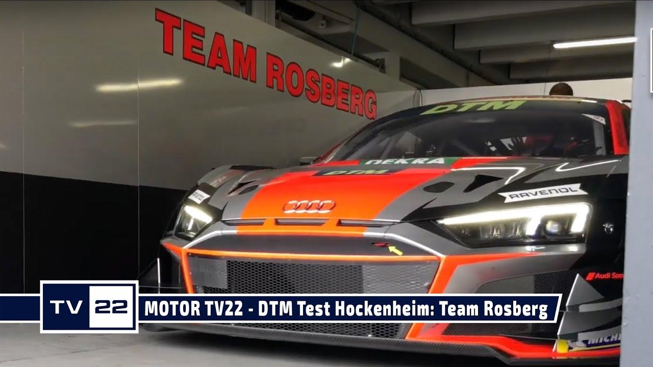MOTOR TV22: DTM Test Hockenheim - Team Rosberg mit dem Audi R8 LMS