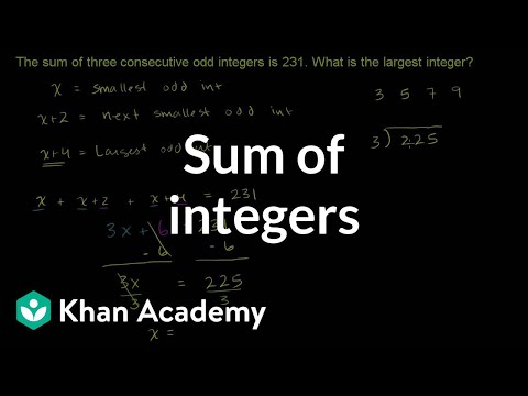 Challenge example: Sum of integers | Linear equations | Algebra I | Khan Academy