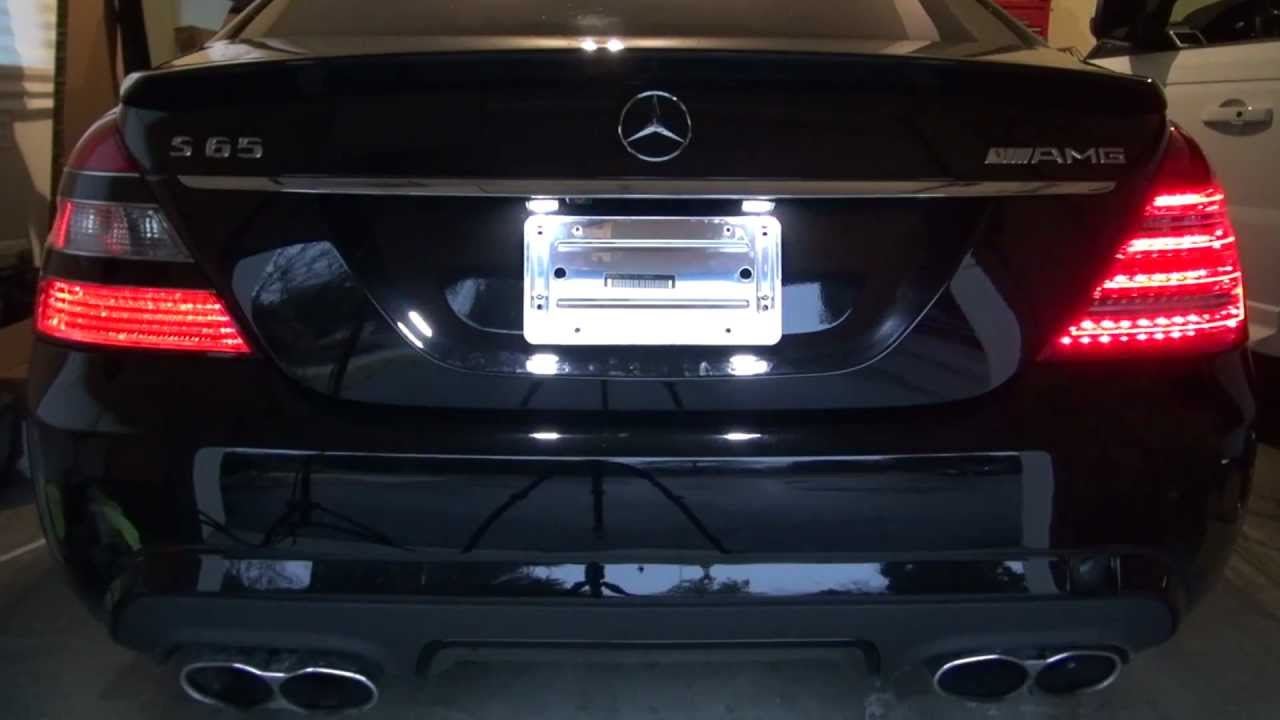 How To Install Facelift Led Tail Lights 2010 W221 Mercedes Benz Amg S65 S63 S550 Youtube