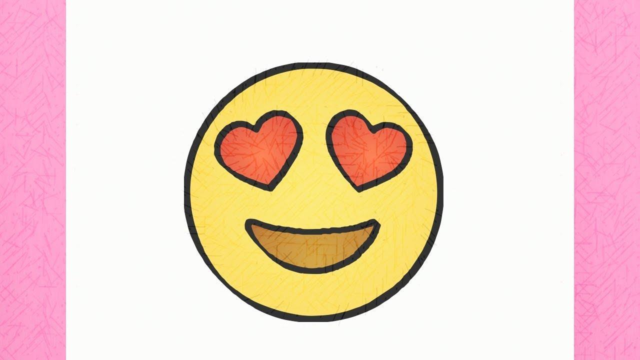 Como desenhar o emoji apaixonado youtube - Smiley a dessiner ...