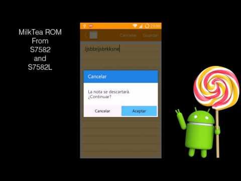 Lollipop ROM for Samsung Galaxy Duos 2 and Trend Plus (GT-S7582/7582L/7580) Milktea