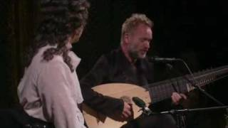 Sting & Emily, strange duet on stage...