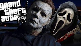 Michael Myers VS Ghostface MOD (GTA 5 PC Mods Gameplay)