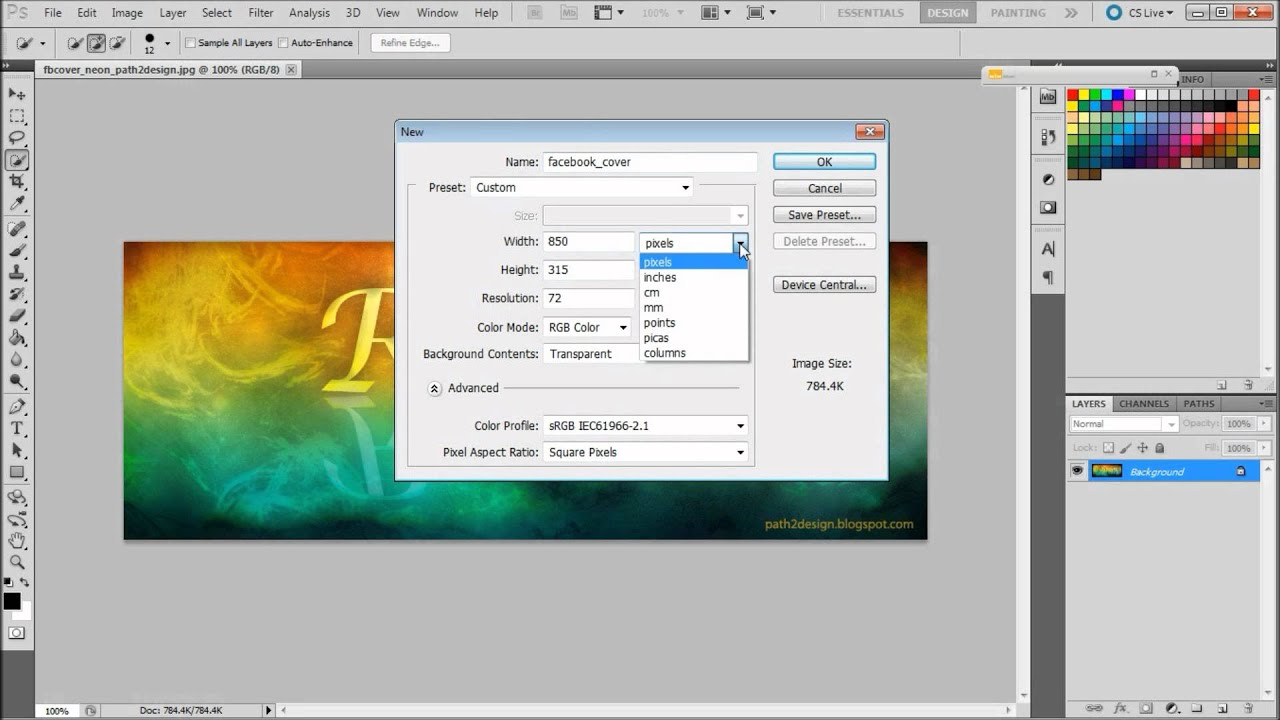 How to Create a Facebook Cover in Photoshop - YouTube
