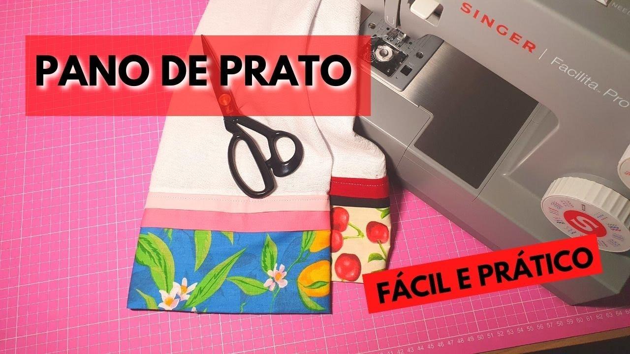 Como fazer PANO DE PRATO - SUPER FÁCIL e com acabamento PERFEITO