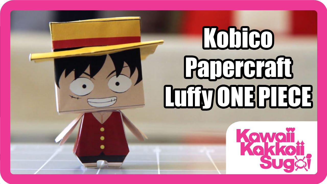 Papercraft LUFFY ONE PIECE Pirate Papercraft from Kobico