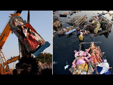 Durga visarjan leaves Yamuna more polluted