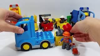 Lego Duplo Cars - Dump Truck, Excavator, Bulldozer, Garbage Truck