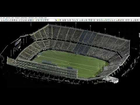 Leica Geo-systems Lidar Scan of UCONN Football stadium
