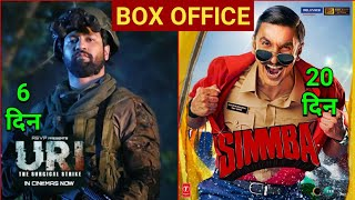 URI Box Office Collection Day 6 | URI Surgical Strike Collection | Simmba Total Collection