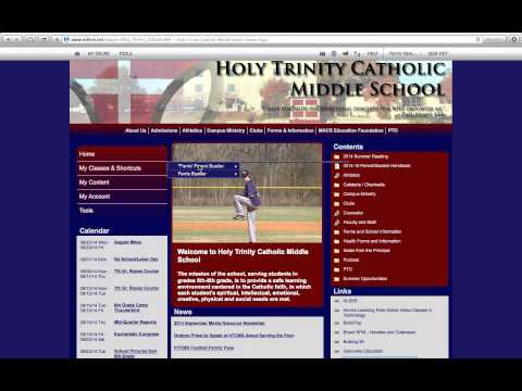 Navigating Edline Holy Trinity Catholic Middle School