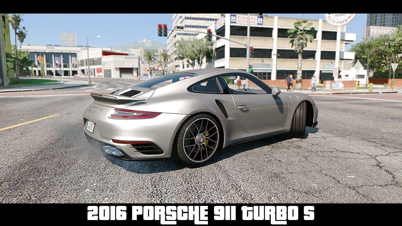 gta 5 2016 porsche 911 turbo s naturalvision photorealistic gta v youtube. Black Bedroom Furniture Sets. Home Design Ideas