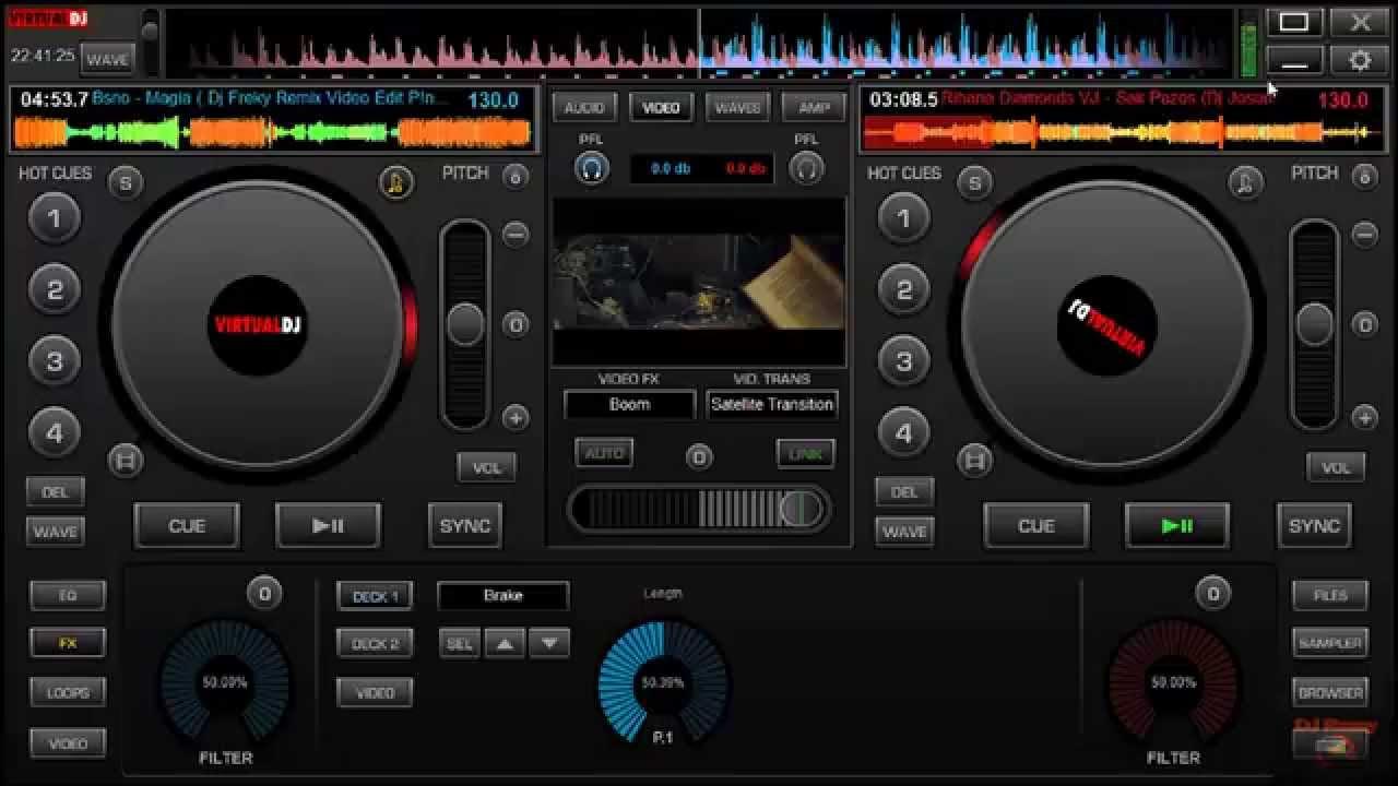 Skin Virtual Dj 8 (Multi Touch) 2013-2014